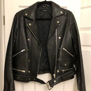 Kooples Leather Biker Jacket